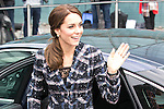 © Joel Goodman - 07973 332324 . 14/10/2016 . Manchester , UK . The Duke and Duchess of Cambridge arrive to visit the National Football Museum in Manchester . Photo credit : Joel Goodman