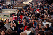 Berlin, Germany<br /> November 11, 1989<br /> <br /> East Germans shop for the first time in West Berlin. East Germans travel to the West after the East German government lifted travel and emigration restrictions regulations on November 9, 1989.