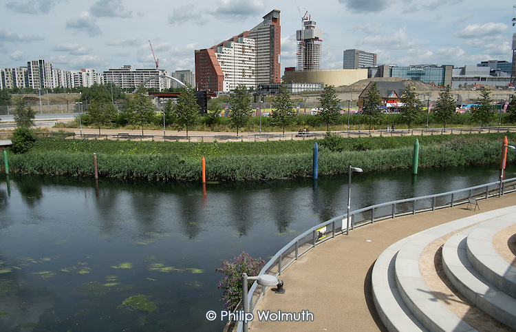 Student housing and privately rented apartment blocks on the site of the London 2012 Olympic Village.  Student room rents start at £212 a week, Olympic Park, London.
