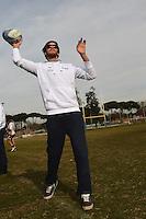 Niccolo Figari .Roma 30/1/2013 Centro di Preparazione Olimpica Acqua Acetosa Giulio Onesti.La nazionale italiana di pallanuoto, Settebello, in visita alla nazionale italiana di Rugby.Foto Andrea Staccioli Insidefoto