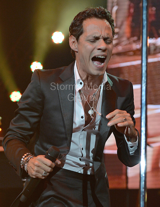 """MIAMI, FL - AUGUST 23: Marc Anthony performs on stage on the Opening night of his Marc Anthony """"Vivir Mi Vida"""" Tour At American Airlines Arena on August 23, 2013 in Miami, Florida. <br /> <br /> People:  Marc Anthony<br /> <br /> Transmission Ref:  FLXX<br /> <br /> Must call if interested<br /> Michael Storms<br /> Storms Media Group Inc.<br /> 305-632-3400 - Cell<br /> 305-513-5783 - Fax<br /> MikeStorm@aol.com"""
