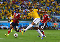 Hulk of Brazil has a shot on goal