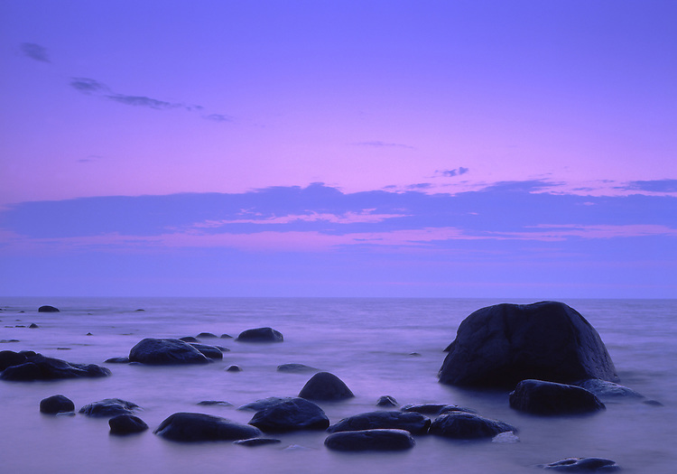 Europe, SWE, Sweden, Oland, Rocky Coast, Twilight.