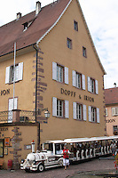 tourist train dopff and irion house riquewihr alsace france