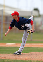 March 22, 2010:  Pitcher Kyle Morrison of the Washington Nationals organization during Spring Training at the Carl Barger Training Complex in Melbourne, FL.  Photo By Mike Janes/Four Seam Images
