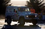 Armed forces rally team Landrover competing on the Resolven stage  of the Wales Rally GB in the forests of South Wales this afternoon..