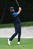 11th July 2021, Silvis, IL, USA; Russell Henley follows the progress of his bvall after hitting his second shot on the #6 fairway during the final round of the John Deere Classic on July 11, 2021, at TPC Deere Run, Silvis, IL.