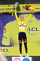 15th July 2021; Luz Ardiden, Hautes-Pyrénées department, France;  POGACAR Tadej (SLO) of UAE TEAM EMIRATES podium during stage 18 of the 108th edition of the 2021 Tour de France cycling race, a stage of 129,7 kms between Pau and Luz Ardiden.