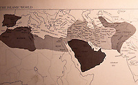 Islamic World:   Map, Expansion of Islam.  Dark: At the death of Muhammad, 632  CE; Light: First 4 caliphs, to 661; Medium, under the Umayyads, 661-750.