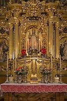 Espagne, Navarre, Pampelune,  Cathédrale Sainte-Marie de Pampelune,  retable de San Fermin 1713 Fermin de Larrainzar  // Spain, Navarra, Pamplona, Pamplona Cathedral, San Fermin retable