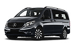 Stock pictures of low aggressive front three quarter view of 2021 Mercedes Benz Vito-Tourer - 5 Door Passenger Van Low Aggressive