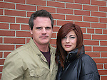 Michael Park and Julie Pinson - outside the As The World Turns Studios on February 5, 2010 in Brooklyn, New York. (Photo by Sue Coflin/Max Photos)
