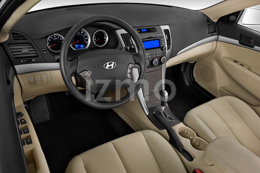 High angle dashboard view of a 2010 Hyundai Sonata GLS