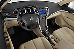 High angle dashboard view of a 2010 Hyundai Sonata GLS