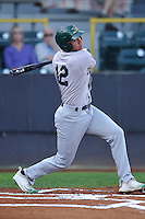 Beloit Snappers Edwin Diaz (12) swings during the Midwest League game against the Clinton LumberKings at Ashford University Field on June 11, 2016 in Clinton, Iowa.  The LumberKings won 7-6.  (Dennis Hubbard/Four Seam Images)