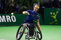 Rotterdam, The Netherlands, 13 Februari 2019, ABNAMRO World Tennis Tournament, Ahoy, first round wheelchair singles, Nico Langmann (AUS),<br /> Photo: www.tennisimages.com/Henk Koster