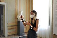 - Milano, maggio 2020, riapertura dei musei civici con tutte le misure di sicurezza dopo due mesi di blocco per l'epidemia di Coronavirus; GAM, Galleria di Arte Moderna<br /> <br /> - Milan, may 2020, reopening of civic museums with all security measures after two months of lockdown for the Coronavirus epidemic; GAM, Gallery of Modern Art