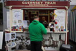 Guernsey 0 Corinthian-Casuals 1, 10/09/2017. Footes Lane, Isthmian League Division One. A home fan at a refreshment kiosk as Guernsey take on Corinthian-Casuals in a Isthmian League Division One South match at Footes Lane. Formed in 2011, Guernsey FC are a community club located in St. Peter Port on the island of Guernsey and were promoted to the Isthmian League Division One South in 2013. The visitors from Kingston upon Thames won the fixture by 1-0, watched by a crowd of 614 spectators. Photo by Colin McPherson.