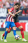 Tiago Cardoso Mendes (L) of Atletico de Madrid fights for the ball with Raul Garcia (R) of Athletic Club during their La Liga match between Atletico de Madrid vs Athletic de Bilbao at the Estadio Vicente Calderon on 21 May 2017 in Madrid, Spain. Photo by Diego Gonzalez Souto / Power Sport Images