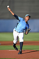 Charlotte Stone Crabs pitcher Reinaldo Lopez (36) delivers a pitch during a game against the Bradenton Marauders on April 4, 2014 at Charlotte Sports Park in Port Charlotte, Florida.  Bradenton defeated Charlotte 9-1.  (Mike Janes/Four Seam Images)