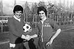 GIGI PROIETTI CON LIONELLO MANFREDONIA - STADIO MAESTRELLI ROMA 1978