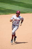 Altoona Curve third baseman Eric Wood (3) running the bases during a game against the Erie SeaWolves on July 10, 2016 at Jerry Uht Park in Erie, Pennsylvania.  Altoona defeated Erie 7-3.  (Mike Janes/Four Seam Images)