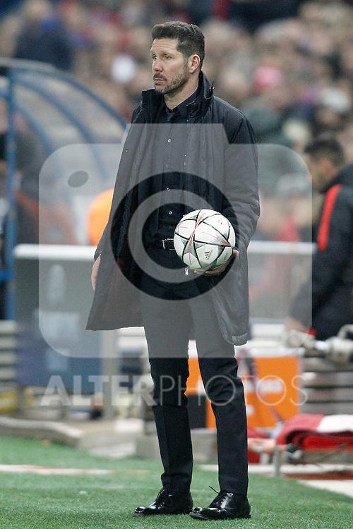 Atletico de Madrid's coach Diego Pablo Simeone during UEFA Champions League match. March 15,2016. (ALTERPHOTOS/Acero)