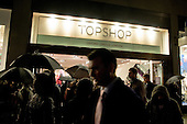 Topshop's flagship Oxford Street store. Campaigners from 'Let's Clean Up Fashion' are demanding improved pay and conditions for garment workers employed by the company's overseas suppliers.
