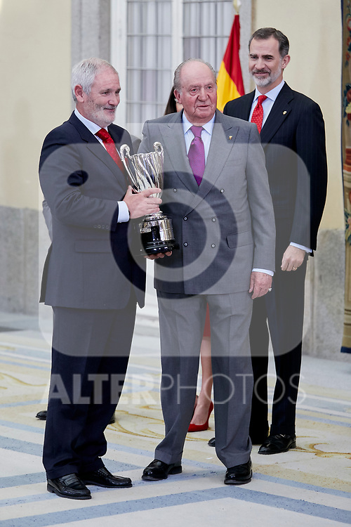 Former King Juan Carlos I of Spain attends to National Sports Awards at Royal Palace of el Pardo in Madrid, Spain. January 10, 2019. (ALTERPHOTOS/A. Perez Meca) (ALTERPHOTOS/A. Perez Meca)