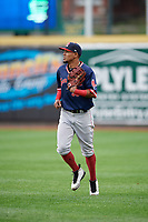 Portland Sea Dogs Deiner Lopez (33) during an Eastern League game against the Erie SeaWolves on June 17, 2019 at UPMC Park in Erie, Pennsylvania.  Portland defeated Erie 6-3.  (Mike Janes/Four Seam Images)