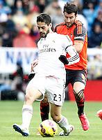 Real Madrid's Isco (l) and Real Sociedad's Imanol Agirretxe during La Liga match.January 31,2015. (ALTERPHOTOS/Acero) /NortePhoto<br /> /NortePhoto.com