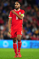Ashley Williams of Wales during the UEFA Nations League B match between Wales and Ireland at Cardiff City Stadium in Cardiff, Wales, UK.September 6, 2018