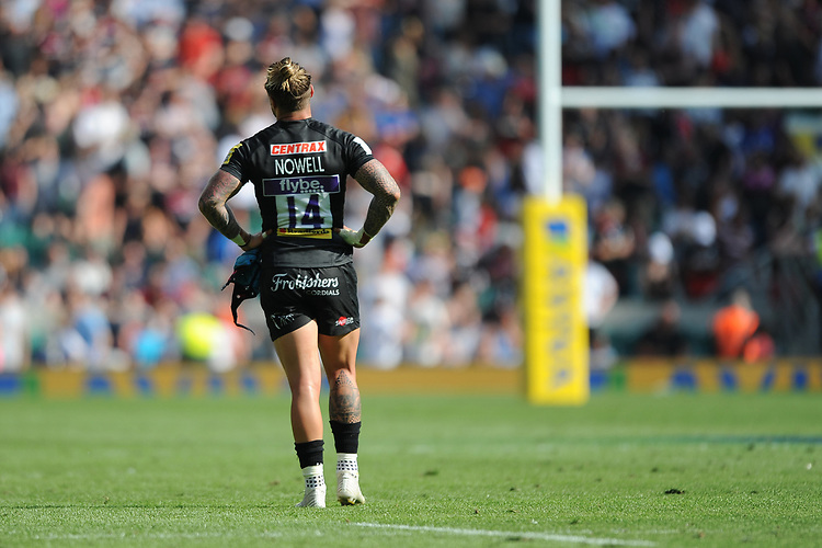 Jack Nowell of Exeter Chiefs looks dejected after losing the Aviva Premiership Rugby Final between Exeter Chiefs and Saracens at Twickenham Stadium on Saturday 26th May 2018 (Photo by Rob Munro/Stewart Communications)
