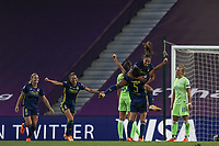 30th August 2020, San Sebastien, Spain;  Saki Kumagai of Lyon celebrates scoring Lyons second goal 0-2, in the 44th min during the UEFA Womens Champions League football match Final between VfL Wolfsburg and Olympique Lyonnais.