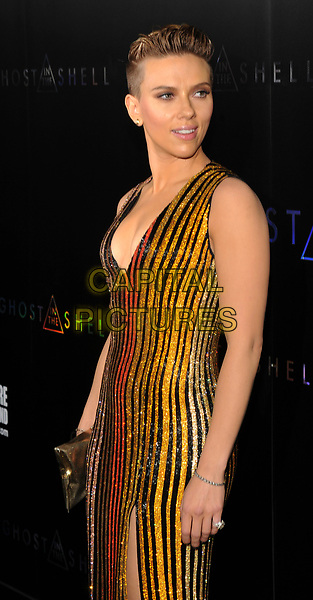 NEW YORK, NY - March 29: Scarlett Johansson Attends the 'Ghost In The Shell' premiere hosted by Paramount Pictures & DreamWorks Pictures at AMC Lincoln Square Theater on March 29, 2017 in New York City. <br /> CAP/MPI/JP<br /> ©JP/MPI/Capital Pictures