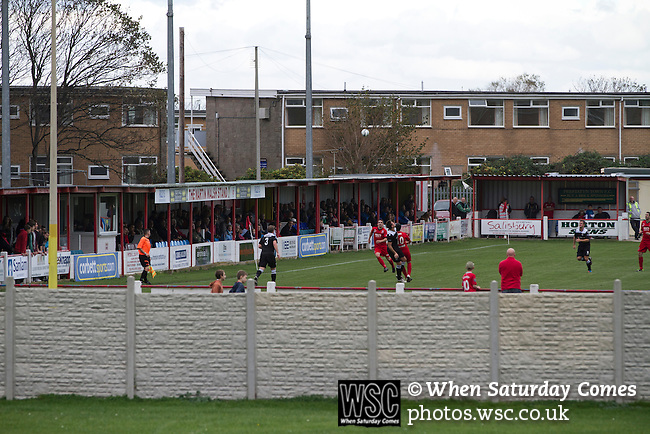 Prestatyn Town 0 Port Talbot Town 0, 19/10/2013. Bastion Gardens, Welsh Premier League. An exterior view of Bastion Gardens during the first-half of the match between Prestatyn Town and visitors Port Talbot Town in the Welsh Premier League. Prestatyn Town were Welsh Cup winners in 2013. The match ended goalless and was watched by 211 spectators. Photo by Colin McPherson.