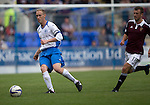 St Johnstone v Hearts...03.08.14  Steven Anderson Testimonial<br /> Steven Anderson and Dale Carrick<br /> Picture by Graeme Hart.<br /> Copyright Perthshire Picture Agency<br /> Tel: 01738 623350  Mobile: 07990 594431