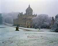 A wintry view of the garden front at the south-east of Castle Howard