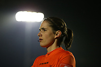 Assistant referee Caroline Janssens pictured during a female soccer game between Oud Heverlee Leuven and RSC Anderlecht on the 12 th matchday of the 2020 - 2021 season of Belgian Womens Super League , sunday 31 st of January 2021  in Heverlee , Belgium . PHOTO SPORTPIX.BE | SPP | SEVIL OKTEM