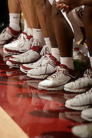 19 February 2006: Nike shoes during Stanford's 76-72 loss against Arizona Wildcats at Maples Pavilion in Stanford, CA.