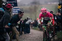 Sep Vanmarcke (BEL/Education First-Drapac) up the Paterberg<br /> <br /> 61th E3 Harelbeke (1.UWT)<br /> Harelbeke - Harelbeke (206km)