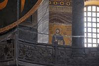 Jesus Christ Mosaic On The Wall Of Hagia Sophia Byzantine Orthodox Church, Istanbul
