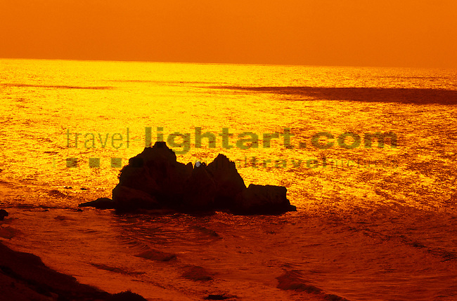 Birthplace of Aphrodite, Petra Tou Romiou, Sunrise near Paphos, Cyprus, Zypern
