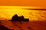 Birthplace of Aphrodite, Petra Tou Romiou, Sunrise near Paphos, Cyprus, Zypern