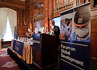 Nov. 10, 2011; Notre Dame Vice President for Research Bob Bernhard opens the Notre Dame Forum on Global Development in Washington D.C...Photo by Matt Cashore/University of Notre Dame