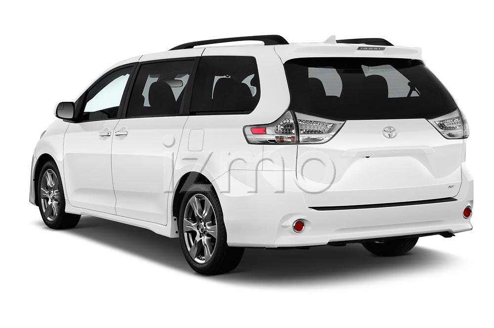 Car pictures of rear three quarter view of a 2020 Toyota Sienna SE 5 Door Mini Van angular rear
