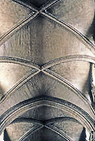 Durham: Durham Cathedral--Nave vaulting. Photo '90.