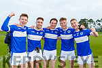 Templenoes Adrian Spillane, Tadhg Morley, Josh Holland and GAvin Crowley celebrate winning the Munster Intermediate Championship final against St Breckan's in Mallow on Sunday
