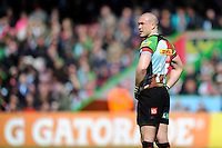 Mike Brown of Harlequins during the Aviva Premiership match between Harlequins and Bath Rugby at The Twickenham Stoop on Saturday 10th May 2014 (Photo by Rob Munro)