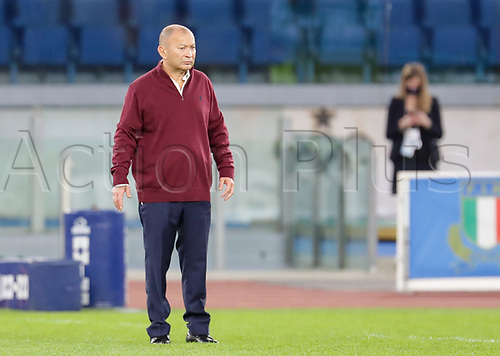 31st October 2020, Olimpico Stadium, Rome, Italy; Six Nations International Rugby Union, Italy versus England;  Manager Eddie Jones (England) before the match
